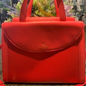 Kate Spade Red/Pink Leather Cobble Hill Adrien Bag